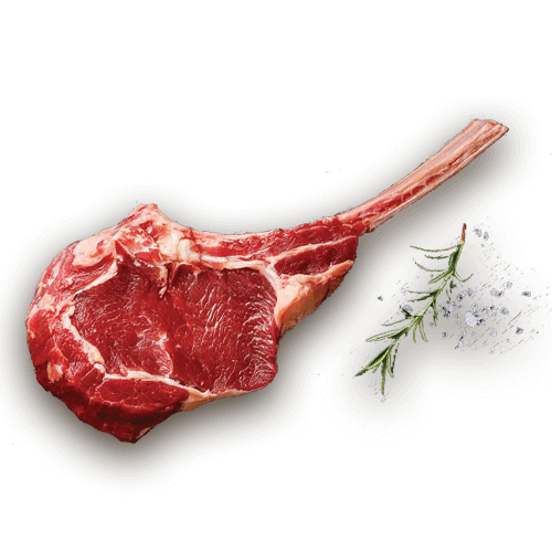 tomahawk steak v restauraci Buffalo American Steakhouse